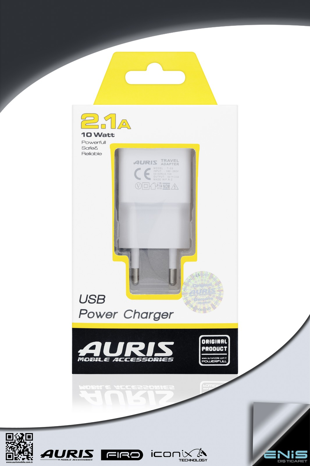 USB POWER CHARGER 2-1A