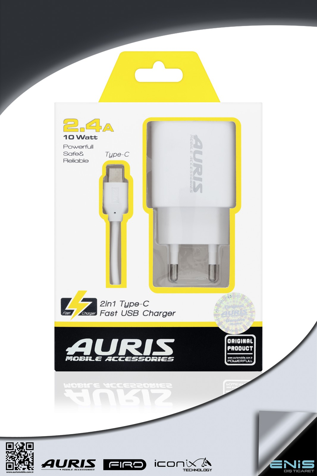 2in1 TYPE-C FAST USB CHARGER 2-4 A 10W