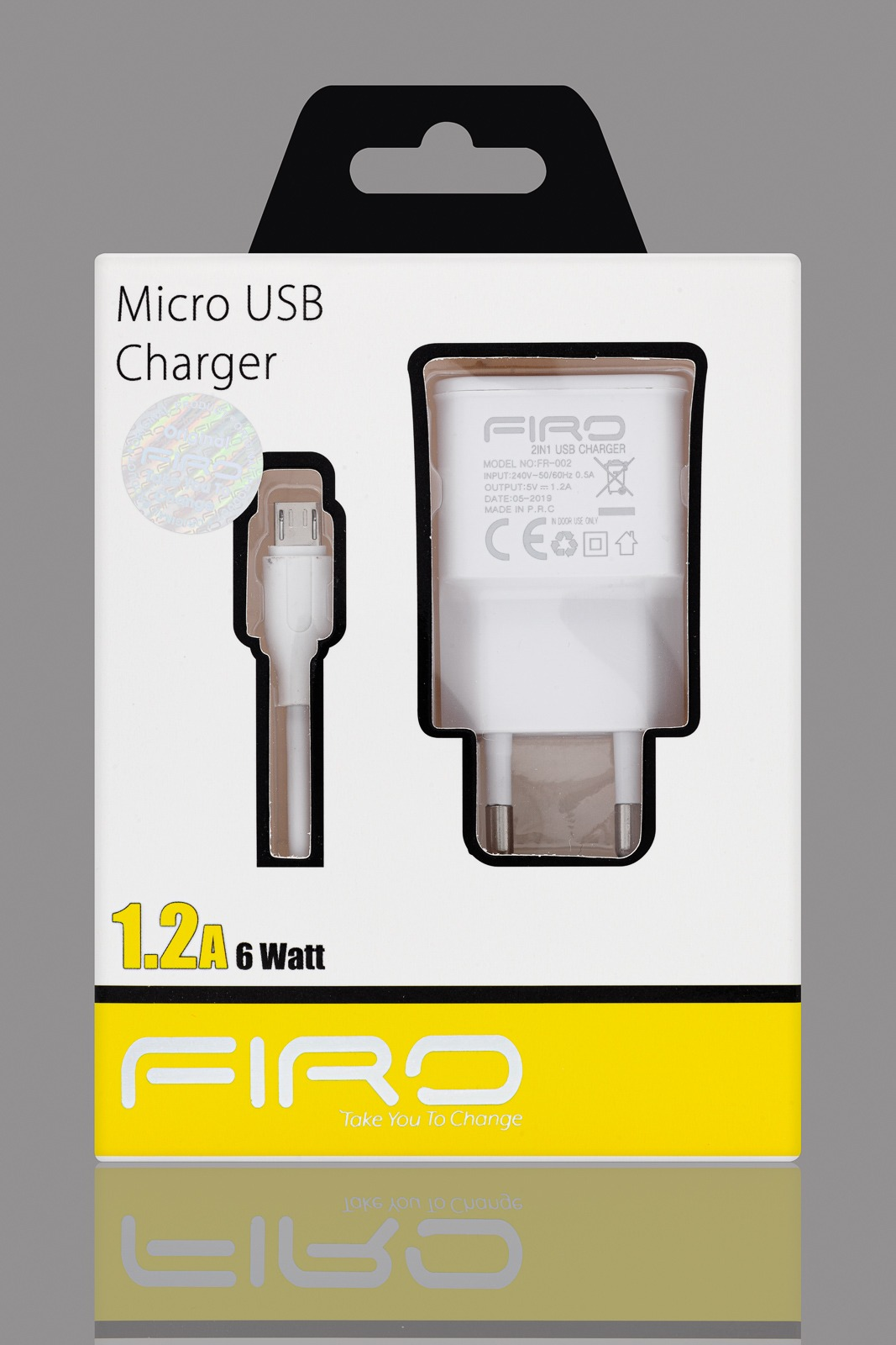 FIRO MICRO USB CHARGER 1-2A 6W