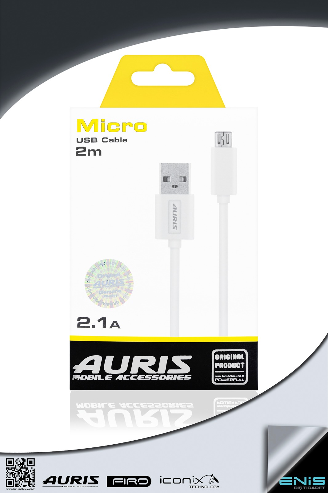 MICRO USB CABLE 2M 2.1A
