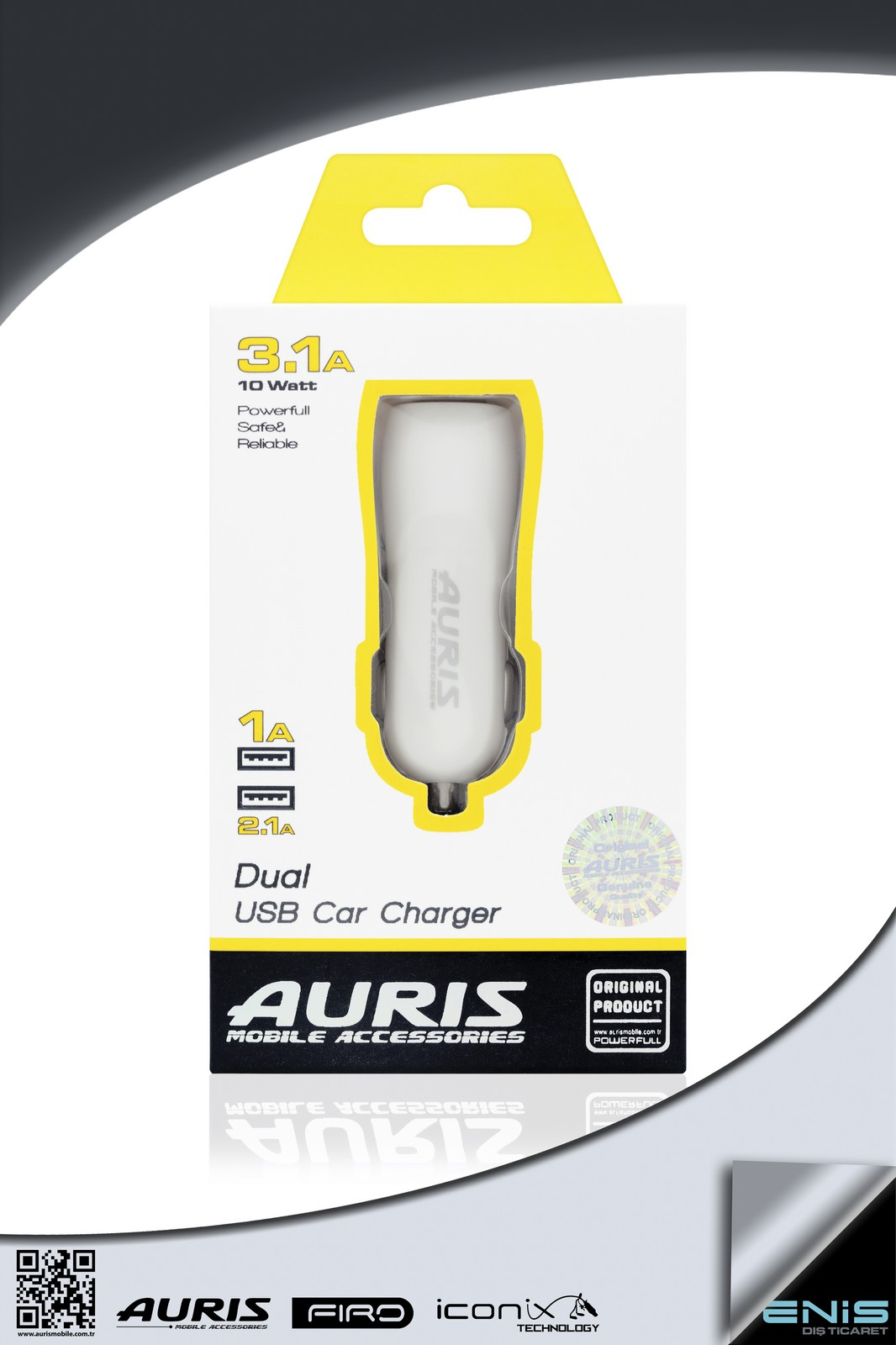 DUAL USB CAR CHARGER 3.1 A