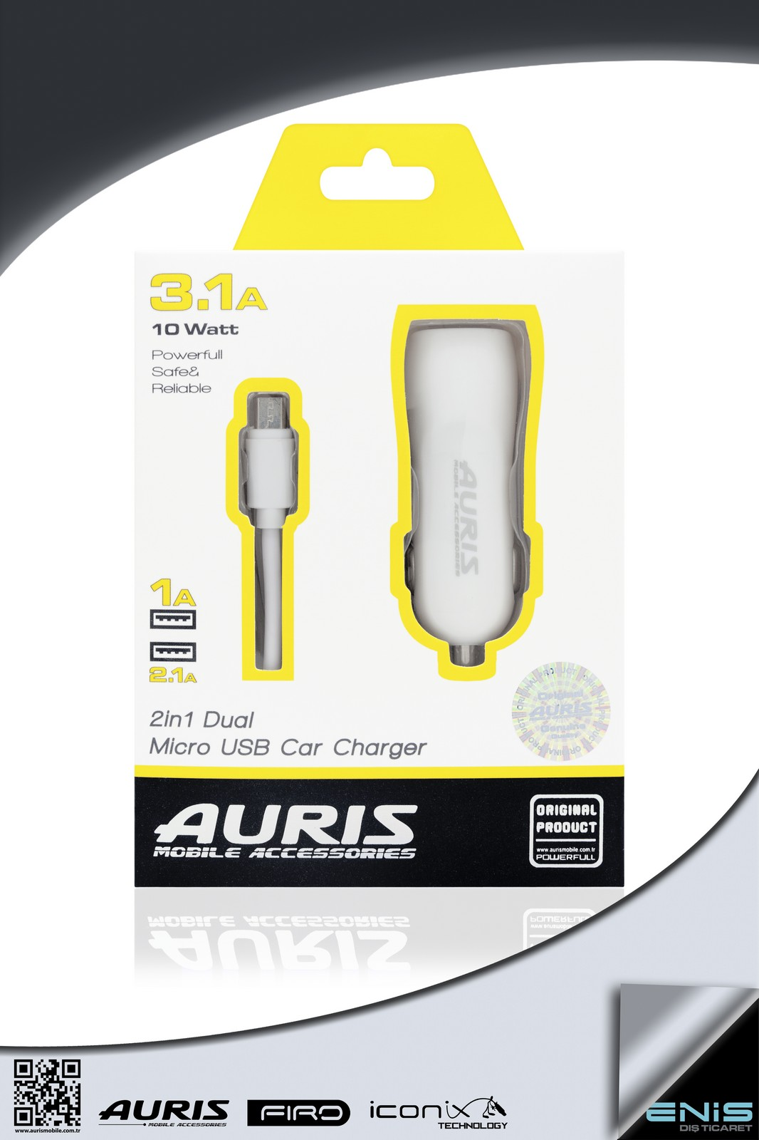 2in1 DUAL MICRO USB CAR CHARGER 3.1 A