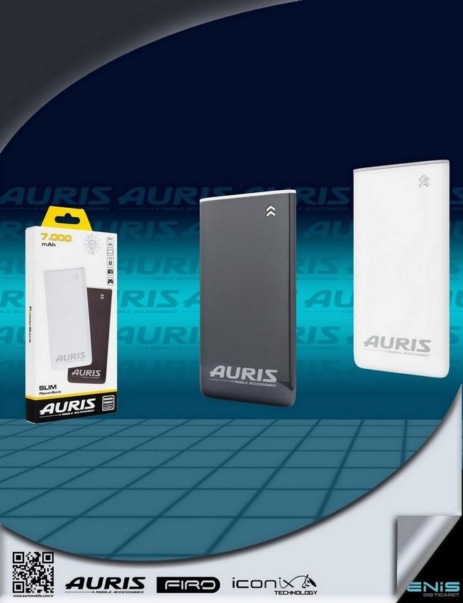 Auris 7000 mah. Slim Powerbank