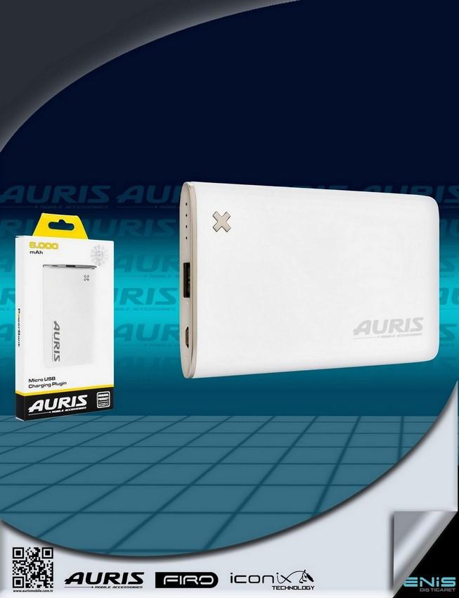 Auris 6.000 mah.Micro Usb Girişli Powerbank