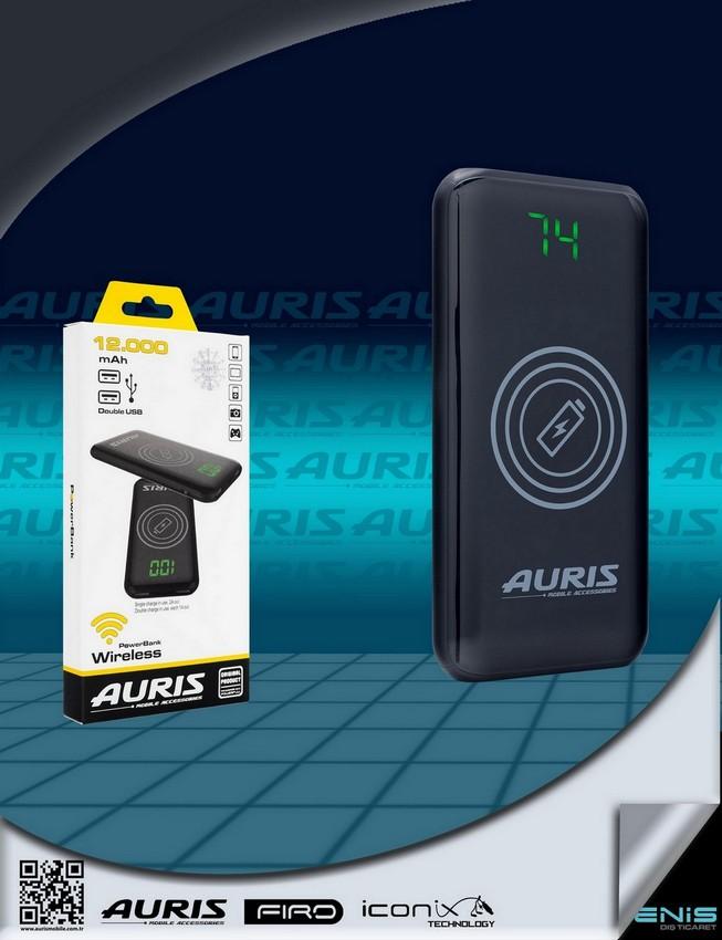Auris 15.000 mah.Kablosuz Lcd Ekranlı Powerbank