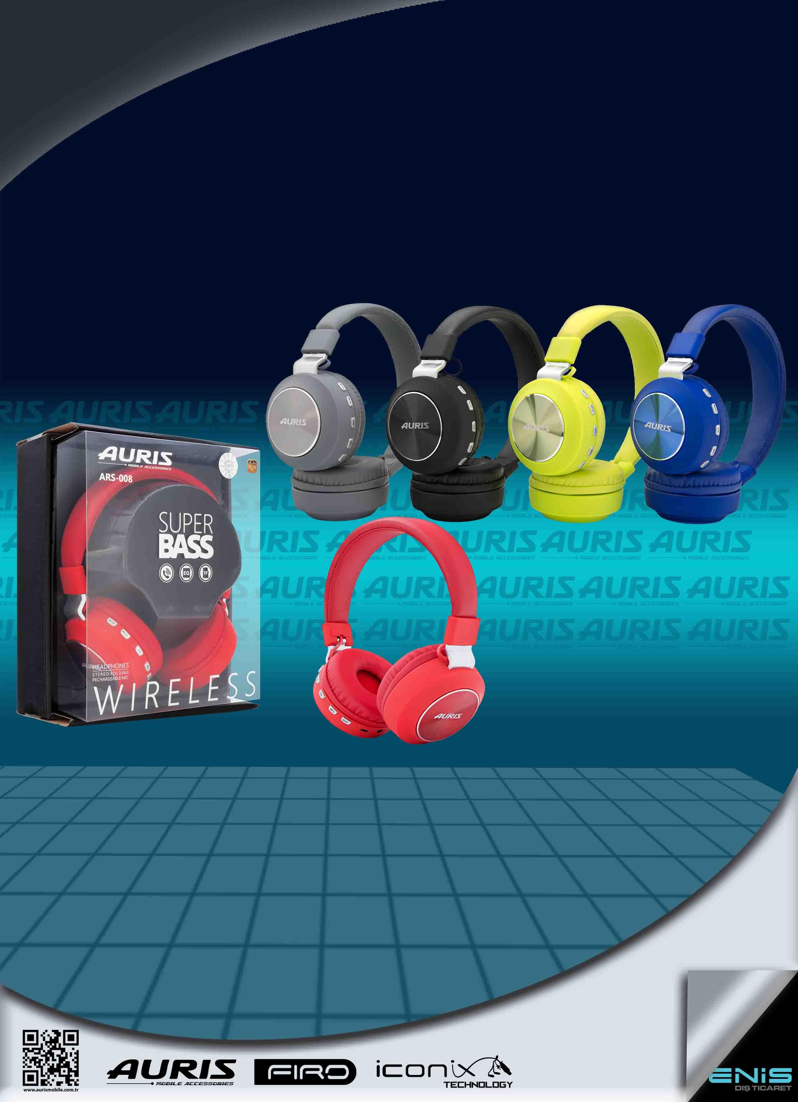 Auris Ars-008 Kafa ÜstÜ Kablosuz Kulaklık