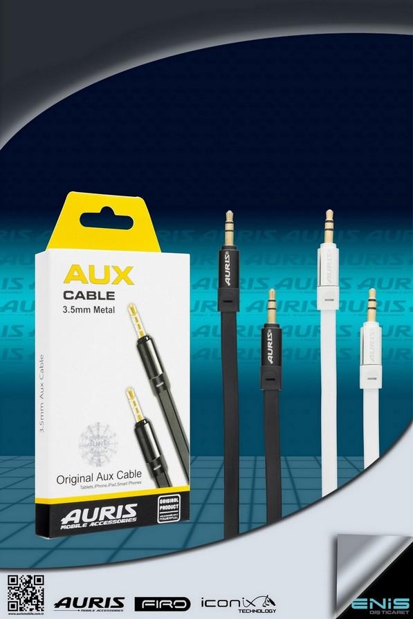 Auris 3.5 mm Metal Aux Kablo