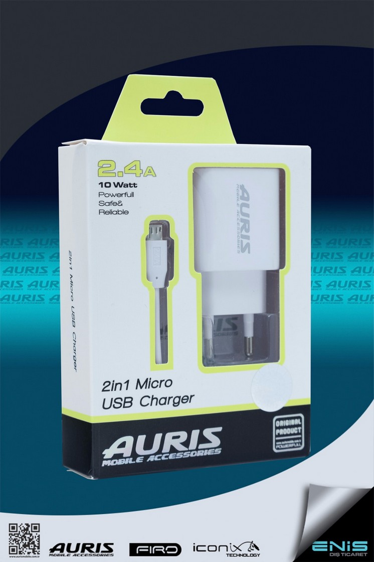 Tek Usb Girişli 2in 1 Micro Usb Şarj Cihazı