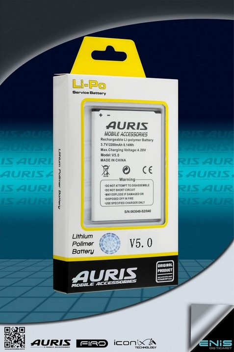 Auris V5.0Lithium Polimer Batarya ( Fiyat listesi için bizimle irtibata geçin )