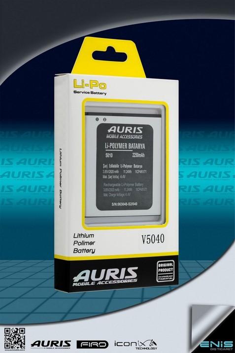 Auris V5040 Lithium Polimer Batarya ( Fiyat listesi için bizimle irtibata geçin )