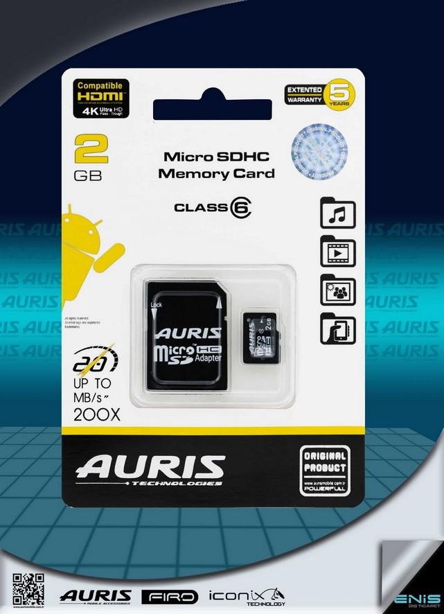 Auris 2GB Micro Hafıza Kartı Class 6