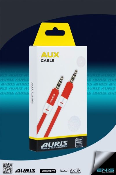 Plastik Aux Kablo Kırmızı