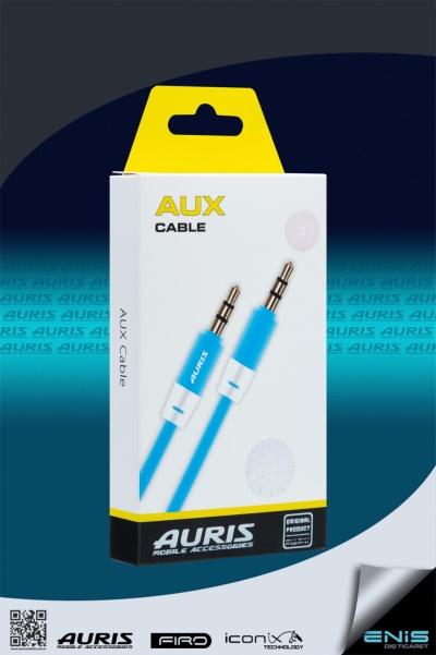 Plastik Aux Kablo Mavi