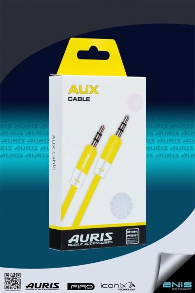 Plastik Aux Kablo Sarı