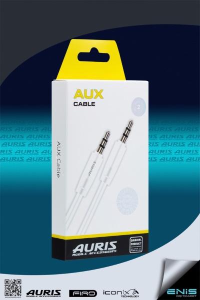 Plastik Aux Kablo Beyaz