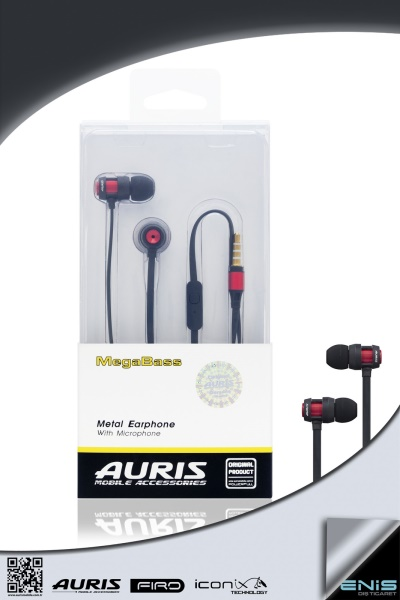 MegaBass Metal Earphone With Microphone