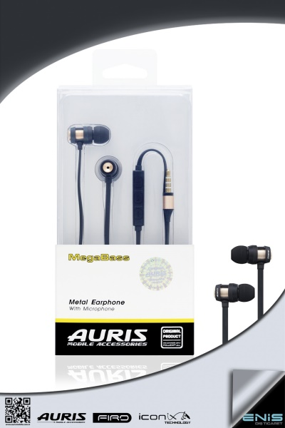 MegaBass Metal Earphone With Microphone Uc Tuslu